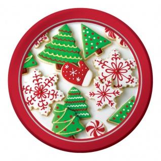8 kleine Teller Weihnachtsplätzchen