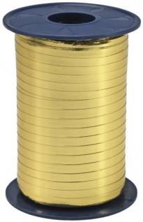 Geschenk oder Ballonband Gold Metallic 5mm 250 Meter Rolle