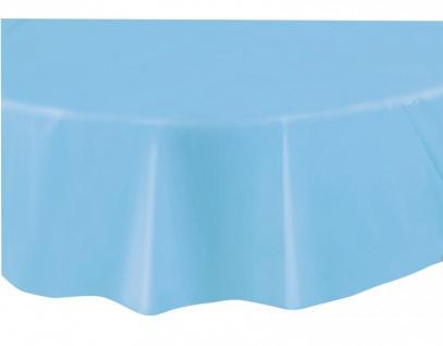 Runde Plastik Tischdecke Hellblau