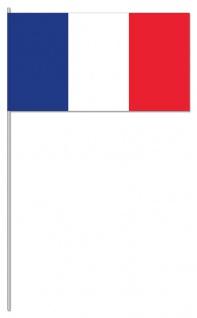 10 Papier Flaggen Fähnchen Frankreich