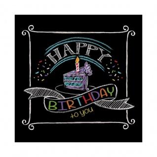16 kleine Geburtstags Servietten Kreidetafel