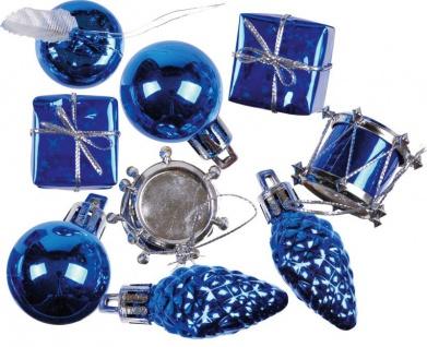kleines Weihnachtspotpurri Set 14 Stück in Blau - Vorschau 1