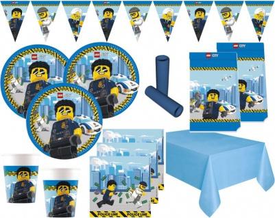 XL 47 Teile Lego City Party Deko Set 8 Personen