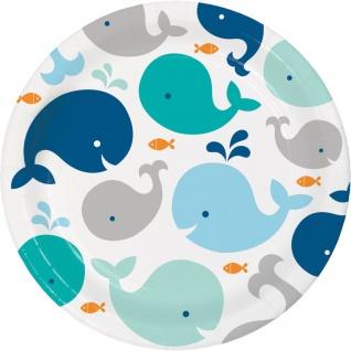 8 Teller Happy Baby Wal Party Blau