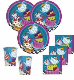8 Party Tütchen Tee Party verrückter Hutmacher - Vorschau 2