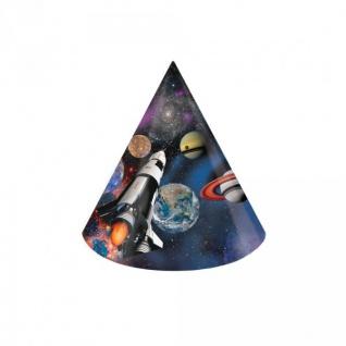 8 Party Hütchen Weltraum Mission