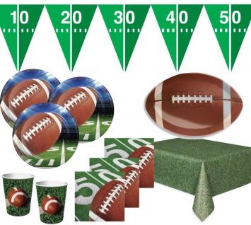 XXL 51 Teile American Football Superbowl Party Deko Set für 16 Personen