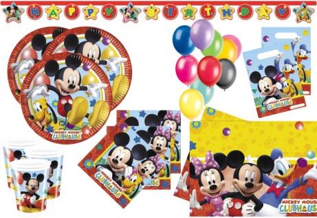 XL 60 Teile Disney Micky Maus Party Deko Set für 8 Kinder