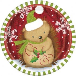 8 kleine Teller Weihnachten der Waldtiere