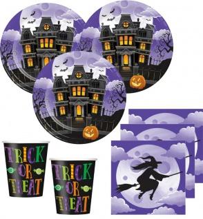 16 Halloween Servietten Hexen Spukhaus - Vorschau 2