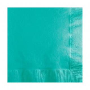 50 kleine Servietten Lagunen Blau 3-lagig