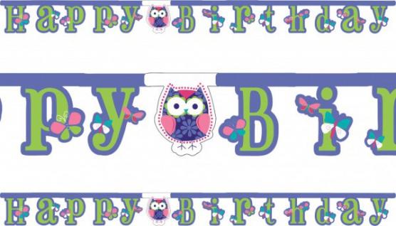 Geburtstags Girlande kleine Eule