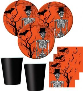 34 Teile kleines Fingerfood Halloween Deko Set Skelett Kulisse 8 Kinder