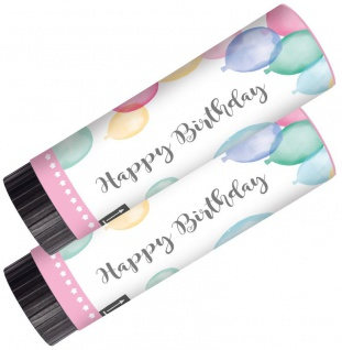 2 Party Popper in Rosa 15 cm lang