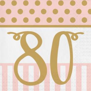 36 Teile Pink Chic Party Deko Set zum 80. Geburtstag in Rosa und Gold Glanz für 8 Personen - Vorschau 4