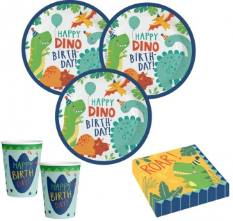 48 Teile kleine Dino Freunde Geburtstags Party Set für 16 Kinder