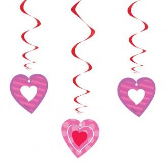 3 hängende Valentins Tag Herzchen