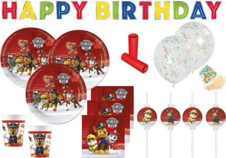 XL 52 Teile Paw Patrol Party Deko Set Papier für 8 Kinder