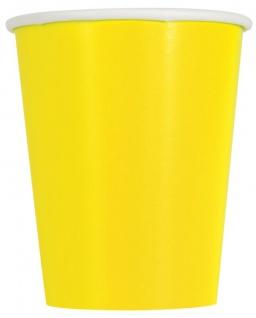 50 Teile Party Deko Set Neon Gelb für 14 Personen - Vorschau 3