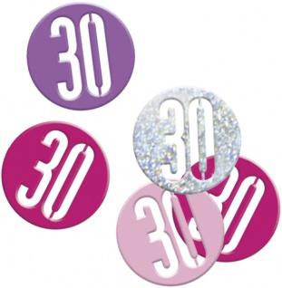Deko Konfetti Pink Dots Glitzer zum 30. Geburtstag