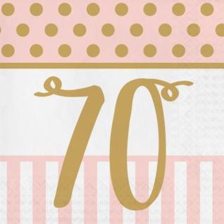 36 Teile Pink Chic Party Deko Set zum 70. Geburtstag in Rosa und Gold Glanz für 8 Personen - Vorschau 4
