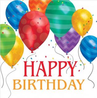 32 Teile bunte Ballons Geburtstags Party Deko Set für 8 Personen - Vorschau 4