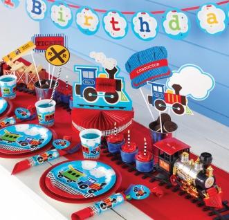 48 Teile Erster Geburtstag Eisenbahn Party Deko Set 16 Personen - Vorschau 5