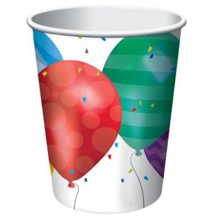32 Teile bunte Ballons Geburtstags Party Deko Set für 8 Personen - Vorschau 3