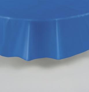 Runde Plastik Tischdecke Königs Blau - Vorschau 2