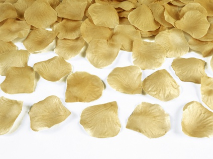 100 Rosenblätter Gold aus Stoff