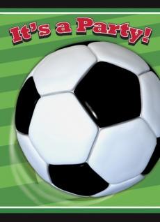 8 Einladungskarten Fussball Party