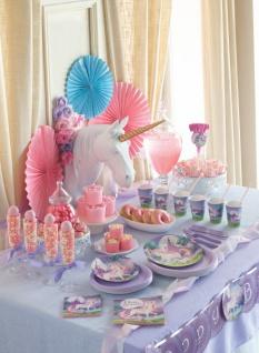 32 Teile rosa Einhorn Party Deko Set für 8 Kinder - Vorschau 5