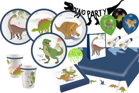 XXL 61 Teile Dinosaurier Classics Geburtstags Party Set für 8 Kinder
