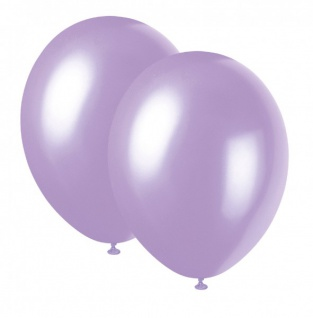 10 Luftballons Lavendel