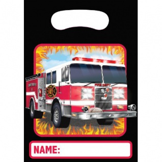 8 Party Tüten Feuerwehr Alarm