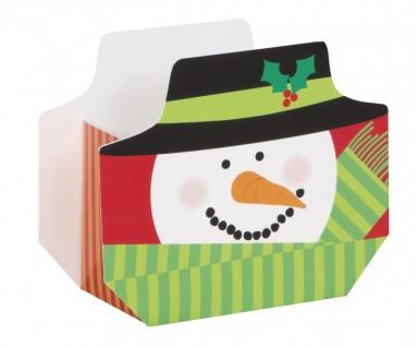 8 kleine Geschenk Schachteln Schneemann