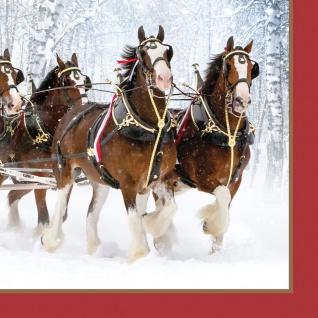 16 Servietten Pferdekutsche im Schnee