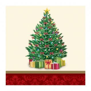 16 kleine Servietten perfekter Weihnachtsbaum