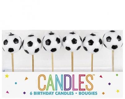 6 Fußball Kuchen Kerzen Picker