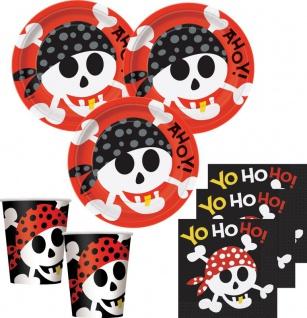 32 Teile Piraten Spaß Party Set für 8 Kinder