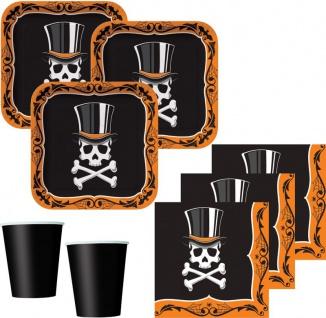 XXL Halloween Party Deko Set Voodoo Zauber Totenkopf 8 Personen - Vorschau 2