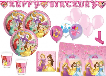 XL 55 Teile Disney's Princess Dreaming Party Set für 8 Kinder