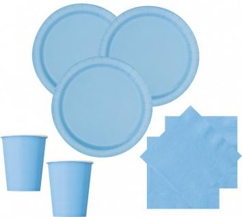 8 Papp Teller Hellblau - Vorschau 2