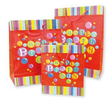 "Bunte "" Happy Birthday"" Geschenktüte Groß"