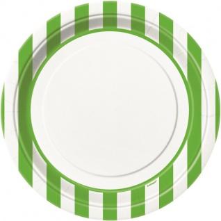 8 Teller hellgrüne Streifen