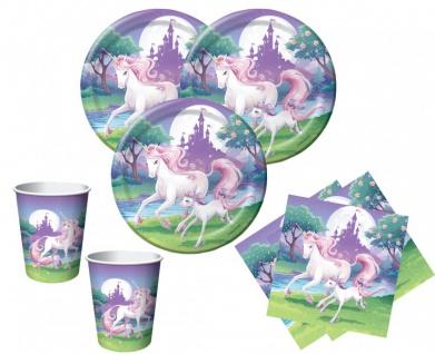 32 Teile rosa Einhorn Party Deko Set für 8 Kinder - Vorschau 1