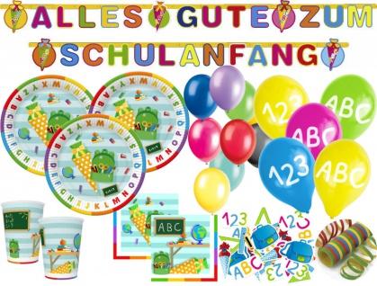 XL 58 Teile Schulanfang 1. Schultag ABC Party Deko Set 10 Personen