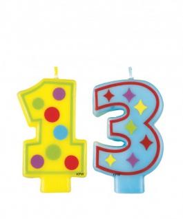 13. Geburtstag Kerze bunt
