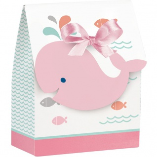 12 Happy Baby Wal Party in Pink Geschenk Boxen
