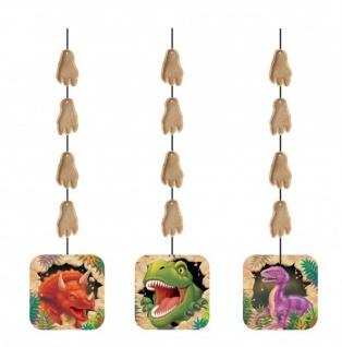 3 hängende Girlanden Dinosaurier Party